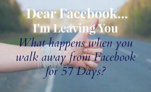 Dear Facbook, I'm Leaving You…